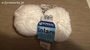 Bawełna Solare Lane Mondial kolor biały