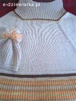 Robię swetry na drutach na zamówienie.